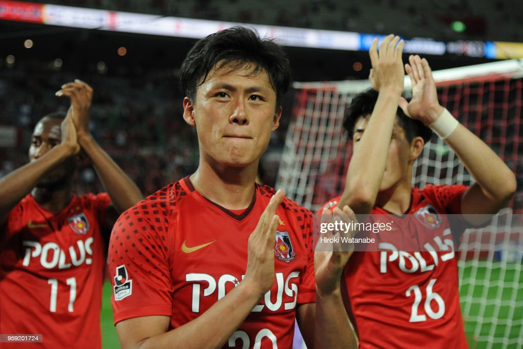 Tadanari Lee of Urawa Red Diamonds looks on after the J.League Levain Cup Group C match between Urawa Red Diamonds and Sanfrecce Hiroshima at Saitama Stadium on May 16, 2018 in Saitama, Japan.