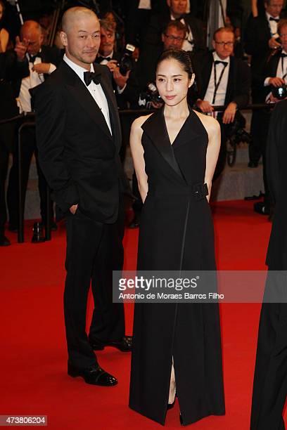 Tadanobu Asano and Eri Fukatsu attend the 'Mon Roi' premiere during the 68th annual Cannes Film Festival on May 17 2015 in Cannes France