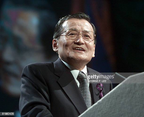 Tadao Chino, President of the Asian Development Bank addresses the 34th annual meeting of the Board of Governors of the Asian Development Bank in...