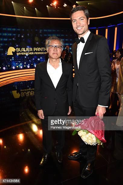Tadashi Endo and Ingo Zamperoni attend the Bayerischer Fernsehpreis 2015 at Prinzregententheater on May 22 2015 in Munich Germany