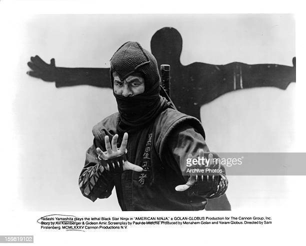 Tadashi Yamashita plays the lethal Black Star Ninja in the film 'American Ninja' 1985