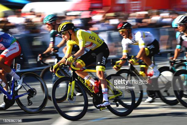 Tadej Pogačar of Slovenia and UAE-Team Emirates Yellow Leader Jersey during the 108th Tour de France 2021, Stage 21 a 108,4km stage from Chatou to...