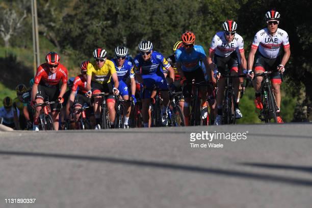 Tadej Pogacar of Slovenia and Team UAE - Team Emirates Yellow Leader Jersey / Enric Mas Nicolau of Spain and Team Deceuninck - Quick-Step / Zdenek...