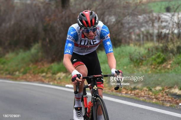 Tadej Pogacar of Slovenia and UAE Team Emirates Blue Leader Jersey during the 56th Tirreno-Adriatico 2021, Stage 5 a 205km stage from Castellalto to...