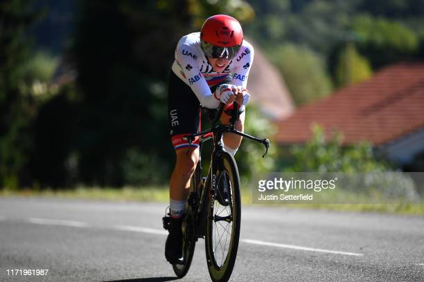 Tadej Pogacar of Slovenia and UAE Team Emirates / during the 74th Tour of Spain 2019, Stage 10 a 36,2 Individual Time Trial stage from Jurançon to...