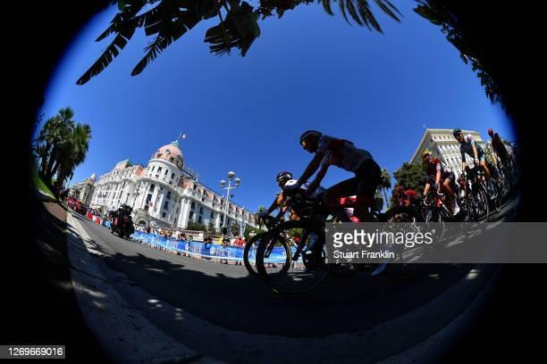 Tadej Pogacar of Slovenia and UAE Team Emirates / Le Negresco Hotel / Nice City / Landscape / Peloton / during the 107th Tour de France 2020, Stage 2...