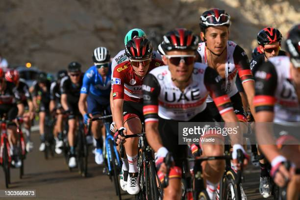 Tadej Pogacar of Slovenia and UAE Team Emirates Red Leader Jersey during the 3rd UAE Tour 2021, Stage 3 a 166km stage from Al Ain - Strata...