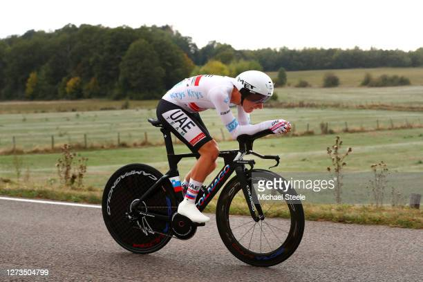 Tadej Pogacar of Slovenia and UAE Team Emirates White Best Young Jersey / during the 107th Tour de France 2020, Stage 20 a 36,2km Individual Time...