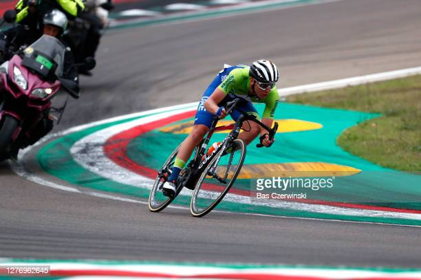 Tadej Pogacar of Slovenia / Autodromo Enzo e Dino Ferrari / during the 93rd UCI Road World Championships 2020, Men Elite Road Race a 258,2km race...
