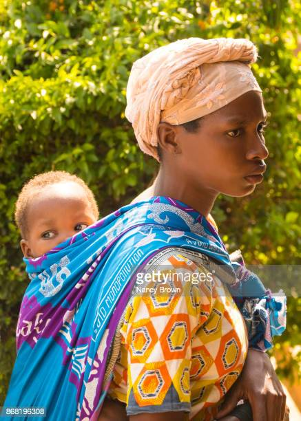 Taditional African Woman and Baby in Village of Selima in Malawi.