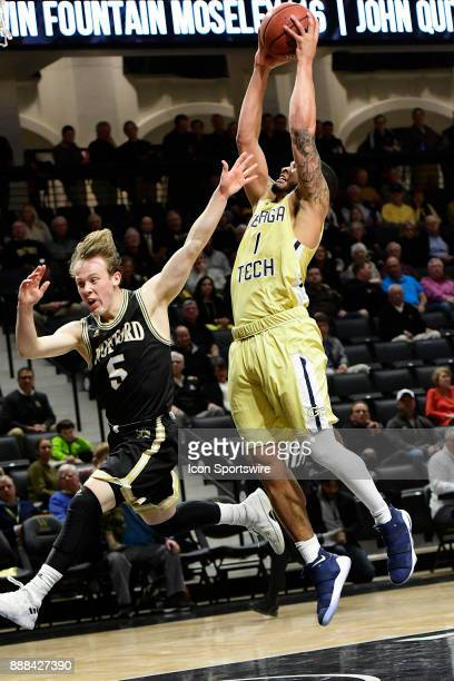 Tadric Jackson guard Georgia Tech Yellow Jackets jumps to shoot for two against Storm Murphy guard Wofford College Terriers Wednesday December 06 at...