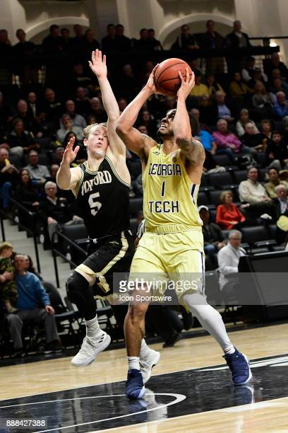 Tadric Jackson guard Georgia Tech Yellow Jackets sets to shoot for two against Storm Murphy guard Wofford College Terriers Wednesday December 06 at...
