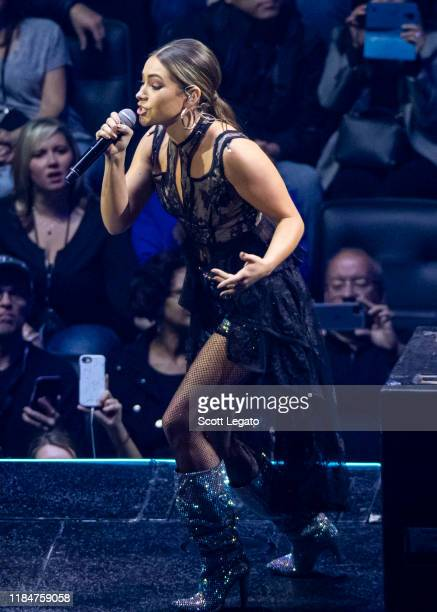 Tae Dye of Maddie Tae performs onstage at Little Caesars Arena on October 31 2019 in Detroit Michigan