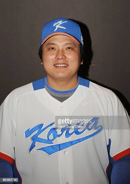 Tae Kyun Kim of team Korea poses during a 2009 World Baseball Classic Photo Day on Monday, Thursday January 8, 2009 in Korea.