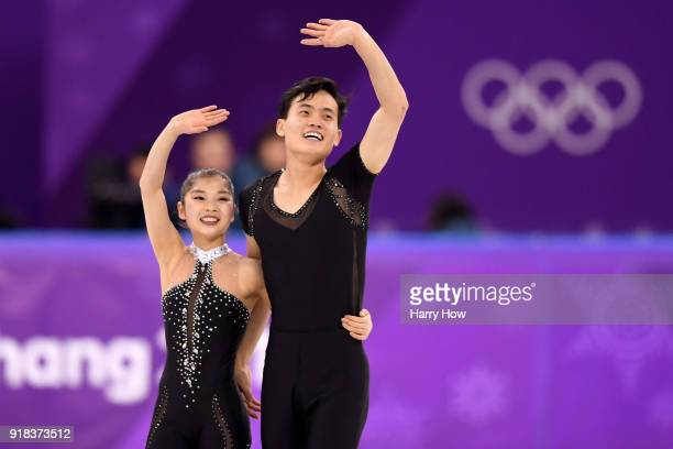 Tae Ok Ryom and Ju Sik Kim of North Korea compete during the Pair Skating Free Skating at Gangneung Ice Arena on February 15 2018 in Gangneung South...