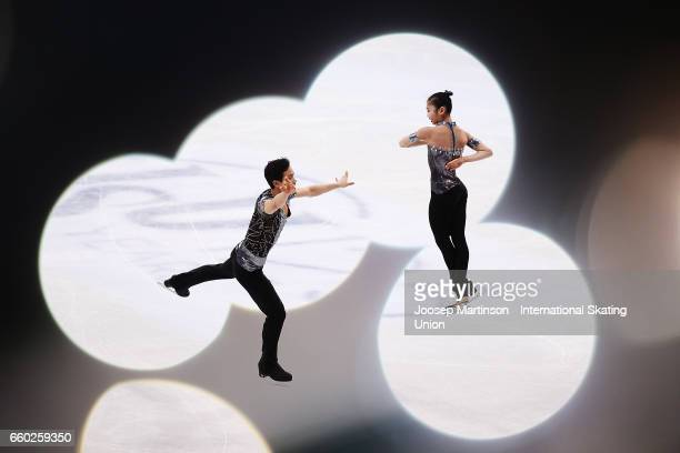 Tae Ok Ryom and Ju Sik Kim of North Korea compete in the Pairs Short Program during day one of the World Figure Skating Championships at Hartwall...