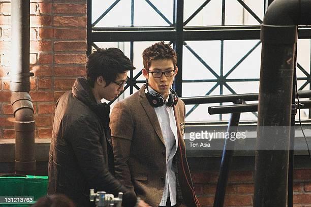 TaecYeon is seen during the KBS 2TV Drama 'Dream High' filming on January 25 2011 in Gyeonggido South Korea
