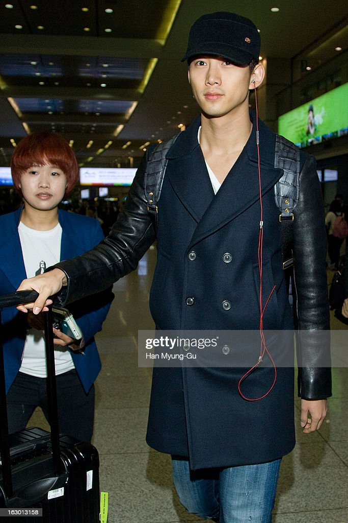 Taecyeon of South Korean boy band 2PM is seen upon arrival from Philippines at Incheon International Airport on March 3, 2013 in Incheon, South Korea.