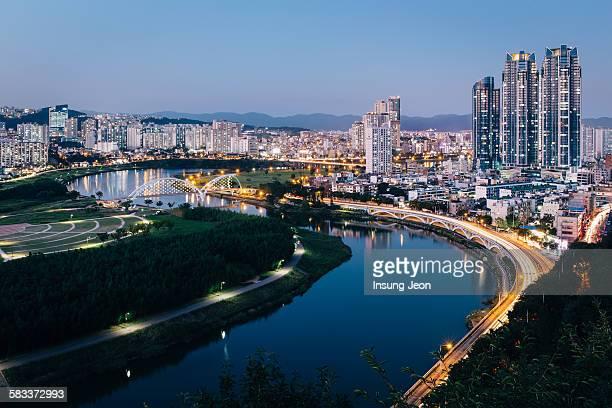 taehwa river grand park - 蔚山 ストックフォトと画像