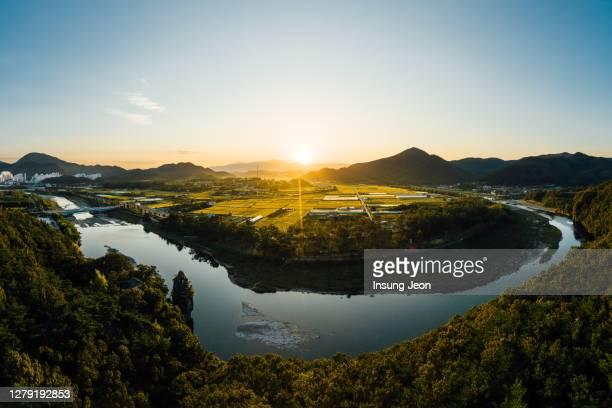 taehwa river sunset - 蔚山 ストックフォトと画像