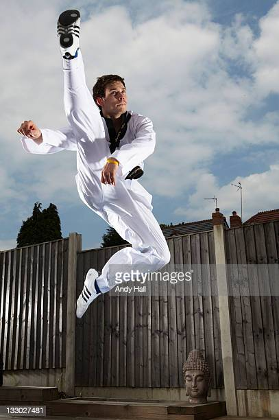 Taekwondo athlete Aaron Cook is photographed for the Observer on July 5 2011 in Manchester England