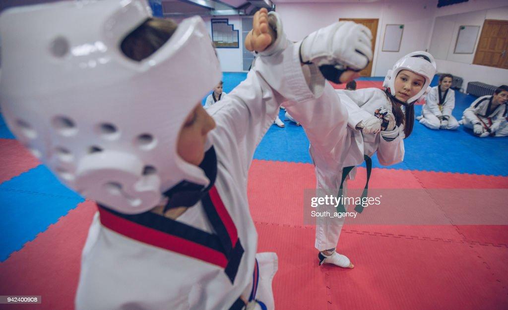 Taekwondo training : Stock Photo