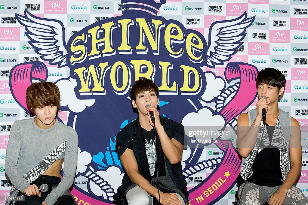 Taemin, Jonghyun and Minho of South Korean boy band SHINee