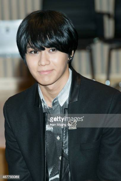 Taemin of South Korean boy band SHINee attends 2013 SBS Korea Pop Music Festival Press Conference at SBS on December 18 2013 in Seoul South Korea
