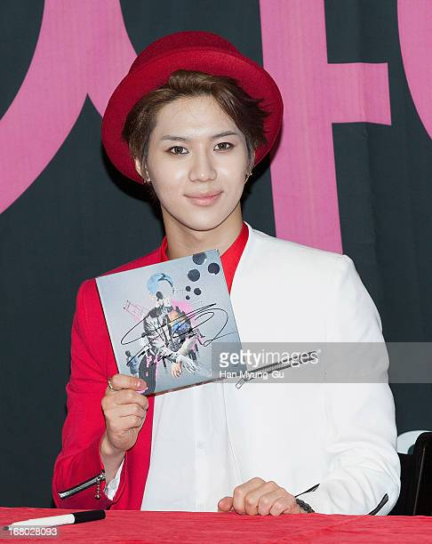 Taemin of South Korean boy band SHINee attends an autograph session for the 'InterPark' on May 3 2013 in Seoul South Korea