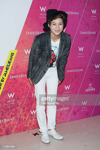 Taemin of South Korean boy band SHINee attends during a promotional event for the 'JamesJeans' 2013 F/W Showcase at the W Hotel on July 19 2013 in...