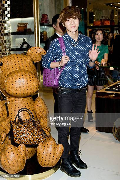 Taemin of South Korean boy band SHINee attends during the launch event of 'MCM' at Lotte Department Store on August 24 2012 in Seoul South Korea