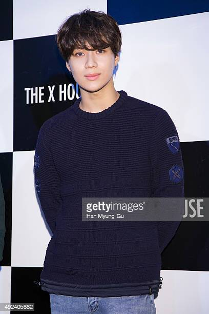 Taemin of South Korean boy band SHINee attends the EXR Flagship store opening on October 12 2015 in Seoul South Korea