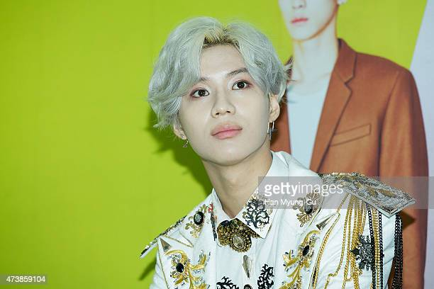 Taemin of South Korean boy band SHINee attends the 'SHINee World IV' press conference on May 17 2015 in Seoul South Korea