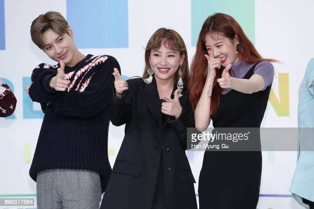 Taemin of South Korean boy band SHINee Jo HyunA aka Jo Hyuna of Urban Zakapa and HyunA of South Korean girl group 4minute attend the KBS Idol...