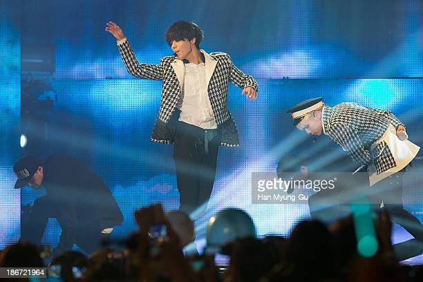 Taemin of South Korean boy band SHINee performs on stage during the YouTube Music Awards at Kintex on November 3 2013 in Seoul South Korea