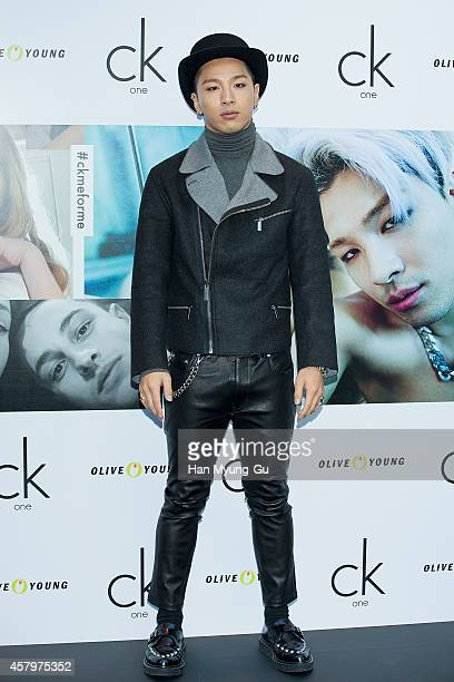Taeyang of South Korean boy band Bigbang attends the autograph session for CK One on October 28, 2014 in Seoul, South Korea.
