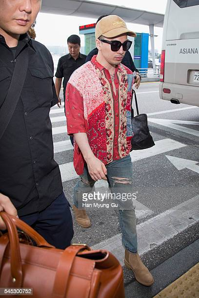 Taeyang of South Korean boy band Bigbang is seen on departure at Incheon International Airport on July 7 2016 in Incheon South Korea