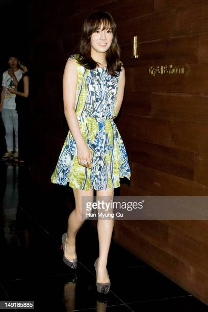 Taeyeon of KPop girl group Girls' Generation attends during at the launch event of the Sisley 'Global Perfect Pore Minimizer' on July 24 2012 in...