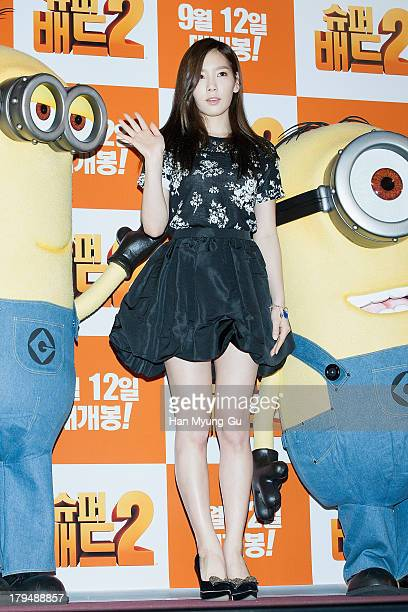 Taeyeon of South Korean girl group Girls' Generation attends during Despicable Me 2 press conference at the CGV on September 4 2013 in Seoul South...