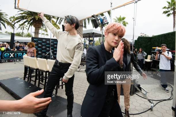 Taeyong and Jaehyun of NCT 127 visit Extraat Universal Studios Hollywood on May 13 2019 in Universal City California