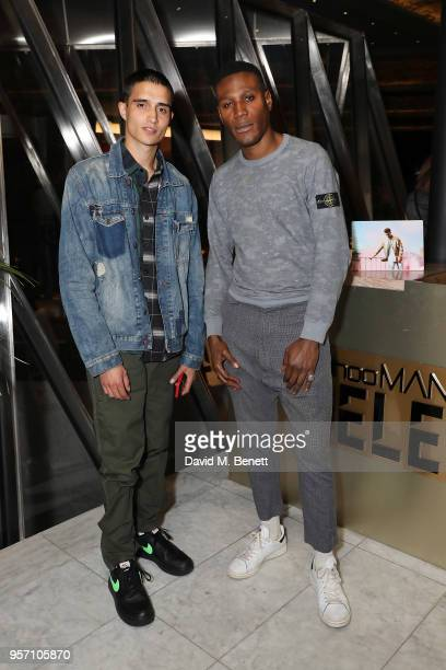 Tafari Hinds and Xavier Hickman attend boohooMAN by Dele Alli Launch at Radio Rooftop on May 10 2018 in London England