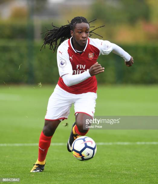 Tafari Moore of Arsenal during the match between Tottehma Hotspur and Arsenal on October 23 2017 in Enfield England