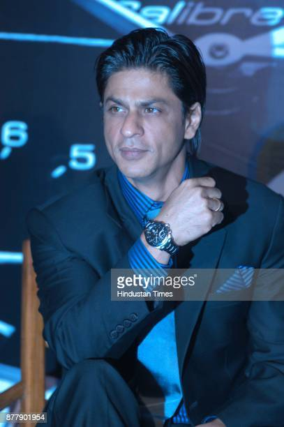 Tag Heuer Brand Ambassadors and actor Shah Rukh khan along with actress Priyanka Chopra during the launch of new Generation Electro mechanical watch...