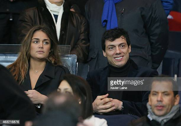 Tag Khris and his girlfriend attend the French Cup between Paris SaintGermain and FC Nantes at Parc Des Princes on February 11 2015 in Paris France