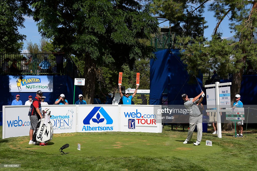 Tag Riddings hits a drive on the 18th hole during the final round of the Web.com Tour Albertsons Boise Open presented by Kraft Nabisco at Hillcrest Country Club on July 12, 2015 in Boise, Idaho.
