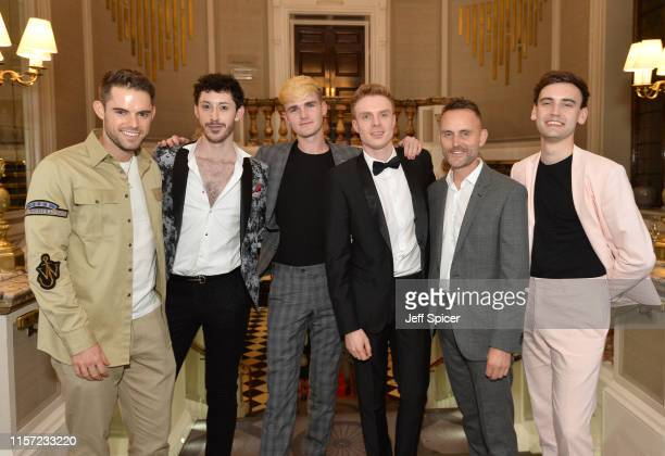 Tag Warner, Daniel O'Gorman, Jack Pengelly, Lewis Corner, James Frost and William J Connolly attend the Pride In London Gala Dinner 2019 at Grand...