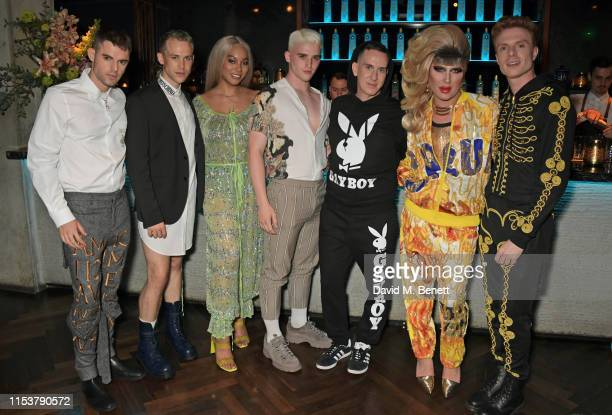 Tag Warner guest Munroe Bergdorf guest Jeremy Scott DJ Jodie Harsh and Lewis Corner attend as CIROC x Moschino celebrate Pride In London with the...