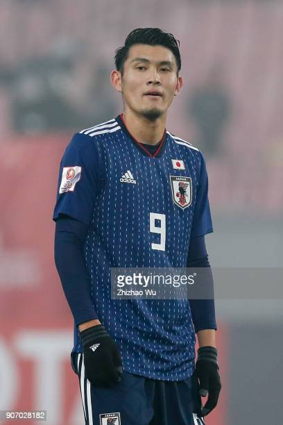 Tagawa Kyosuke of Japan in action during AFC U23 Championship Quarterfinal between Japan and Uzbekistan at Jiangyin Sports Center on January 19 2018...