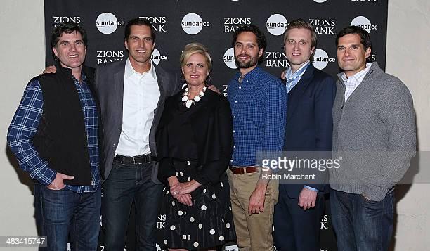 Tagg Romney Josh Romney Ann Romney Craig Romney Ben Romney and Matt Romney attend SLC Gala Reception Presented By Zions during 2014 Sundance Film...