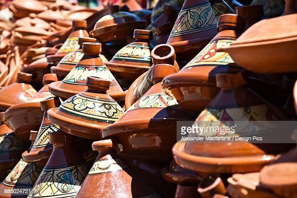 Tagine pots in a market